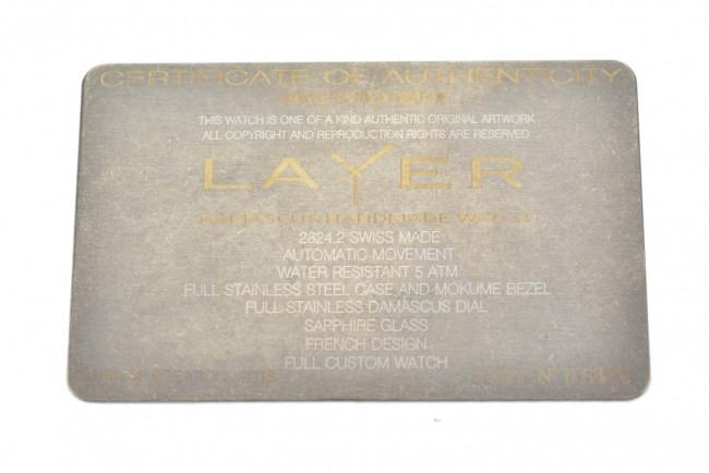 Montre Layer Série 0-68/75 - Damas Mokumé