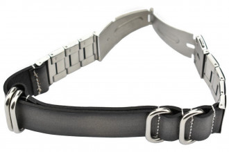 Bracelet natoquick cuir gris