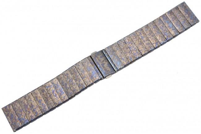 Bracelet titane anodisé crazy traitement 22 mm