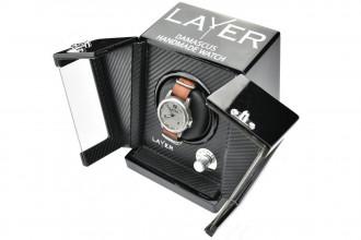 Coffret-présentoir à rotation électronique pour montre Layer