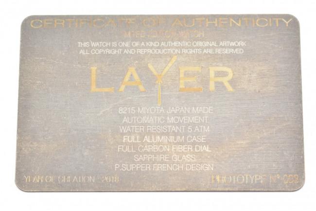 Montre Layer Prototype n°003 - Aluminium Fibre de carbone