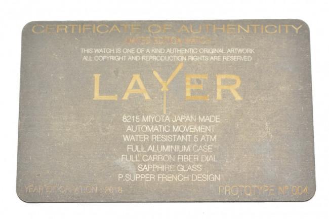 Montre Layer Prototype n°004 - Aluminium Fibre de carbone